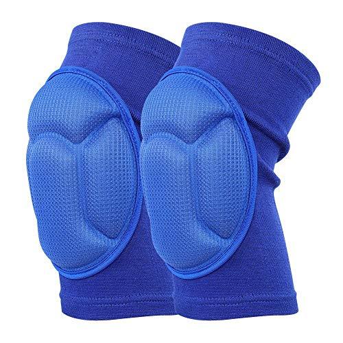 Zerone Un Paio di Ginocchiere in Spugna, Protezioni Protettive per Ginocchiere in Gommapiuma per L\'arrampicata Sportiva da Portiere (M-Blue)