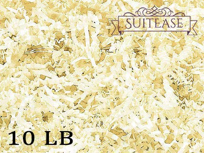 10 lb Crinkle Cut Paper Shreds Eco-Spring Fill, Filler for Packing Gift Baskets and Boxes. Box of 10 LB French Vanilla - Good Value Natural Paper Shred Filler