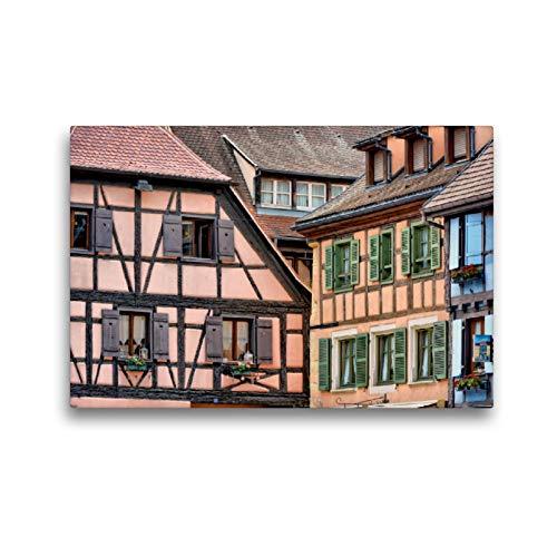 CALVENDO Premium Textil-Leinwand 45 x 30 cm Quer-Format Typisches Fachwerk, Leinwanddruck von Thomas Bartruff