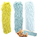 Youngever 3 Pack Cat Kicker Toys, Kitty Kick Stick, Cat Kick Toy, Interactive Cat Toys for Cat, Puppy, Kitty, Kitten (Plush Fabric)