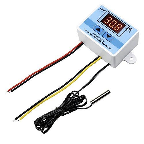 Diymore LED Controller digitale di temperatura AC 220V 110V 10A W3001 Interruttore di controllo del termostato con sonda impermeabile NTC10K 1M