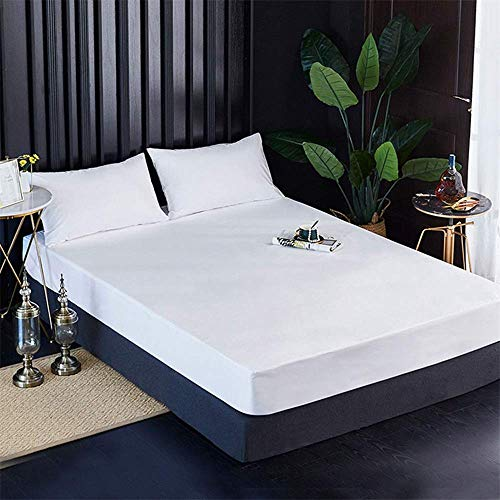FHQCU Leak-proof Mattress Protector Double Bed, Waterproof Mattress Covers Moisture Proof Mattress for Home Camping Living Room Dormitory Mattress,193 * 203 * 46CM/76 * 80 * 18IN