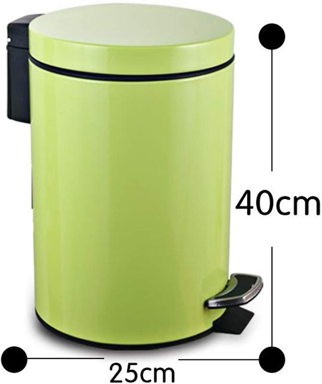 a la venta ZDNALS Cubo de de de Pedal para el hogar con Tapa de Basura de Acero Inoxidable cilíndrico - verde de múltiples Tamaños Opcional Bote de Basura (Tamaño   12L)  A la venta con descuento del 70%.