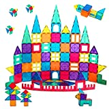 IntreS 78 PCS Cognitive Learning Building Magnetic Tiles; Toys for 3 Year Old Boys and Girls for Kids; Toddler Toys; Montessori Toys; Ages 3+