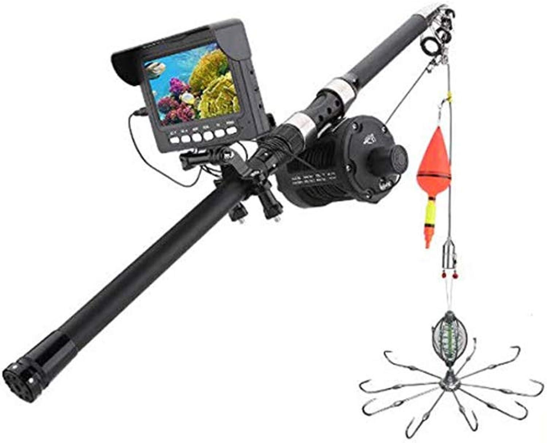 GJR-OUT 20M HD Sea Wheel Unterwasser-Rad Unterwasser-Angelvideo Kamera Kit, 6W IR LED-Leuchten mit 4,3 Zoll HD DVR Recorder Farbe Monitor