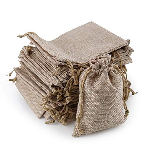 Bolsitas de yute, SOG Reat joyas bolsa con cordón Natural como regalo...
