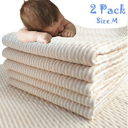 MCF Waterproof Bed Pads Changing Pad Liners Washable for Incontinence Baby Pets Dogs 16' x 20' 4 Packs
