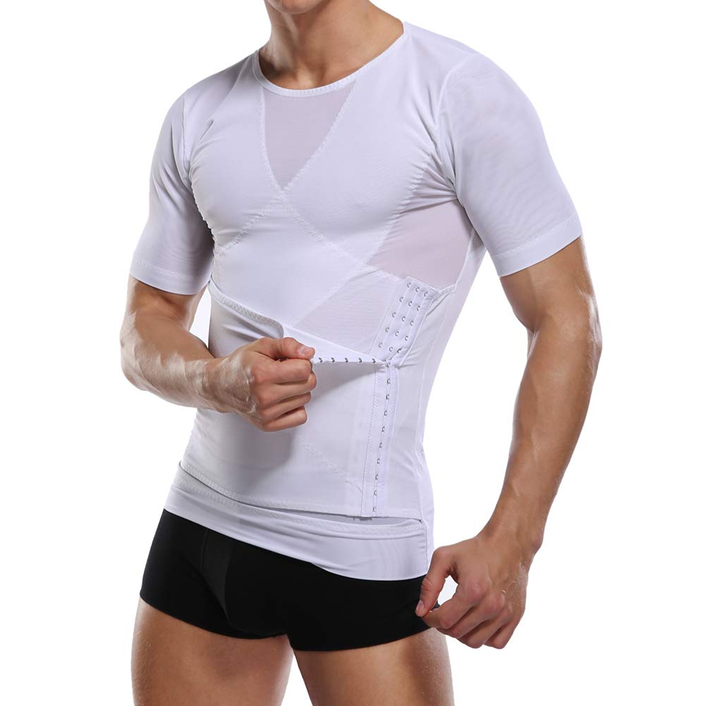 Derssity Body Shaper for Men Waist Trainer Belt Slimming Undershirt for Tummy Control Girdle