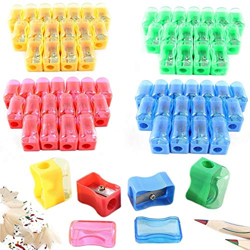 72 Colored Pencil Sharpener - Plastic Manual Pencil Sharpener, Assorted Colors - Bulk Pack For Kids
