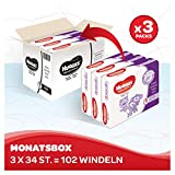 Huggies Windeln Ultra Comfort Baby Größe 6 Monatsbox, 1er Pack (1 x 102 Stück) - 2