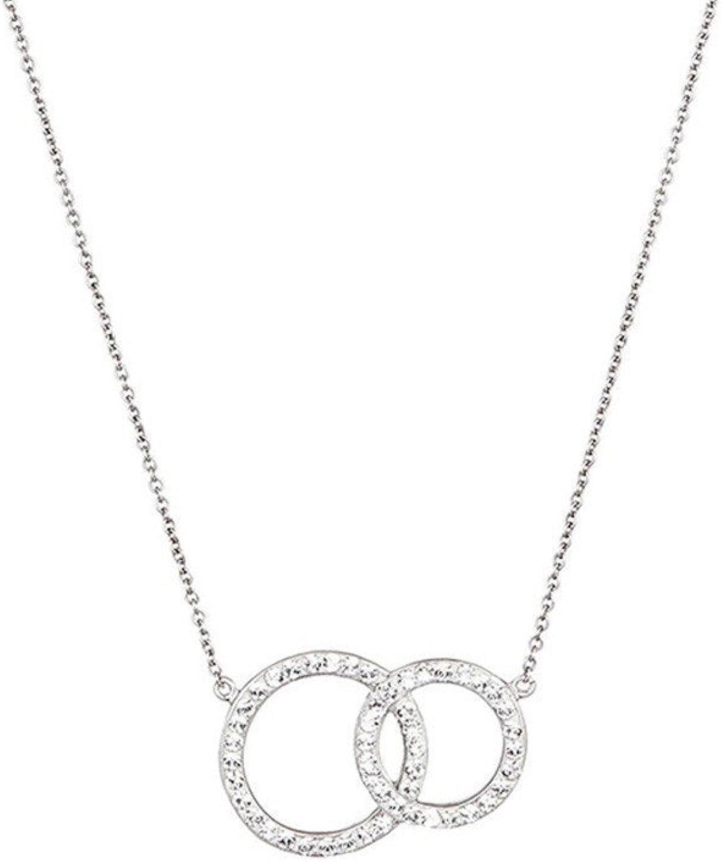 Mes-bijoux.fr - Kette für Damen aus silbernem Metall und mit Elementen aus Swarovski-Kristallen besetzt - WCI135Crygv B0716J2XMK Ausgezeichnete Leistung    Einfach zu bedienen