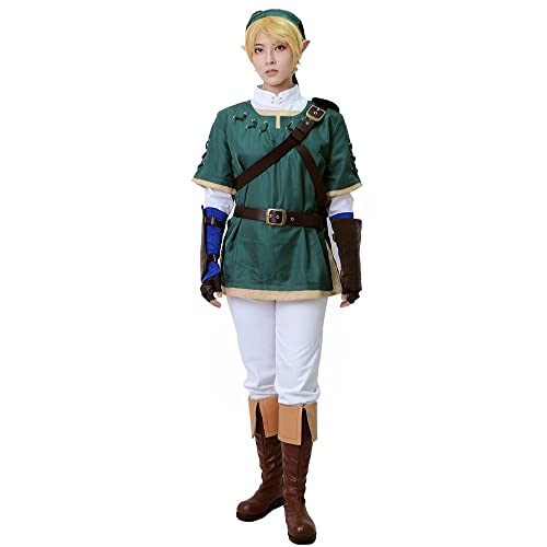 90feb9ed2 Miccostumes Men's Link Cosplay Costume Green
