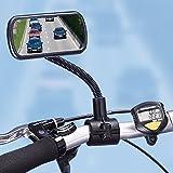 Flexi Fahrradspiegel für Lenker, Rückspiegel, Rücksitzkontrolle, Toter-Winkel-Spiegel, Kinderbeobachtung, Fahrradzubehör, schwarz, Kunststoff, für e-bike