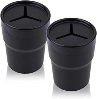 FIOTOK Cup Holder Glove Box Car Mini Trash Bin Car Trash Can Auto Holder Cap Mounts 2 Pack