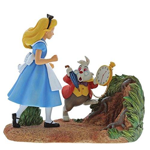 Enchanting Disney Mr Rabbit Espera Alicia en El País de Las Maravillas Figurina, Resina,...