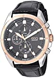 ESQ Men's Stainless Steel Chronograph Watch w/ Leather Strap FE/ 0133