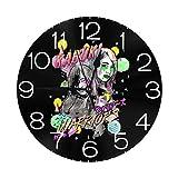 壁時計 Kabuki Warriors War 円形掛け時計 サイレント 連続秒針 ウォールクロックノンフレーム 寝室 店舗 家 部屋装飾 簡単 シンプル おしゃれ 贈り物, 直径25cm