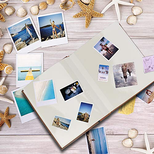 Magnetic Self-Stick Page Photo Album,Unique Luminous Line,Wedding Photo Album,Baby Growth,Family Album, Leather Cover…