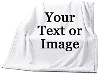 Image Or Text Picture Printed Velvet Plush Fleece Feeling Super Soft Cozy Bedroom/Couch/Sofa Throw Blanket 58x80 inch(Large) (One Sides Printed)
