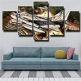 Impresiones en lienzo arte abstracto 5 lienzo arte de pared American Douglas A-4 Skyhawk Fighter pintura imagen Hd impresión cartel 150X80
