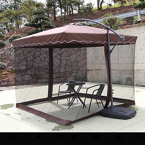 Chiheng Moustiquaire pliée Moustiquaire Anti-Moustique Rideau de lit Moustiquaire de la Cour extérieure (Grande Taille 2.7 * 2.7 * 2.5 mètres vin Rouge, Vert, Kaki) (Color : Coffee, Size : B)