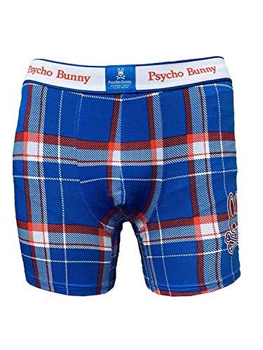 Psycho Bunny Men's Cotton Stretch Knit Boxer Briefs