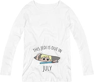 Jedi Peek A Boo Baby Due in July: Maternity Long Sleeve Tee