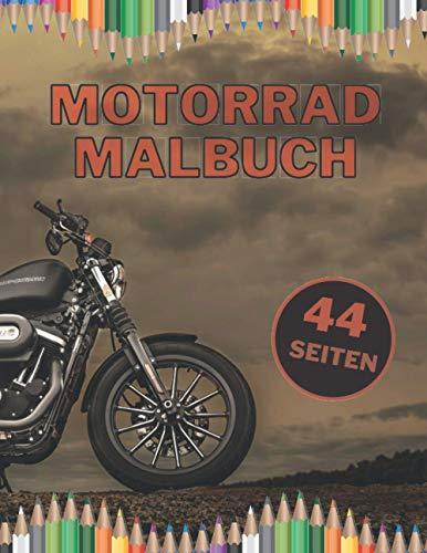 Motorrad Malbuch: Die besten Motorräder zum Malen mit schwarzen Seiten für Erwachsene und Kinder
