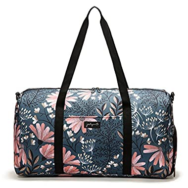 Jadyn B 22  Women's Weekender Duffel Bag with Shoe Pocket, Navy Floral