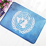 hysxm Türmatte Retro-Stil United Nations Land Fahnen Home Eingang Tür Dekoration Matte Rutschfeste Badezimmer Fußmatte, 60X90 cm