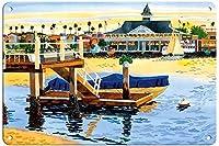 バルボア館ニューハーバービーチカリフォルニア州ブリキマークレトロお笑い生物鉄絵金属板個性新奇