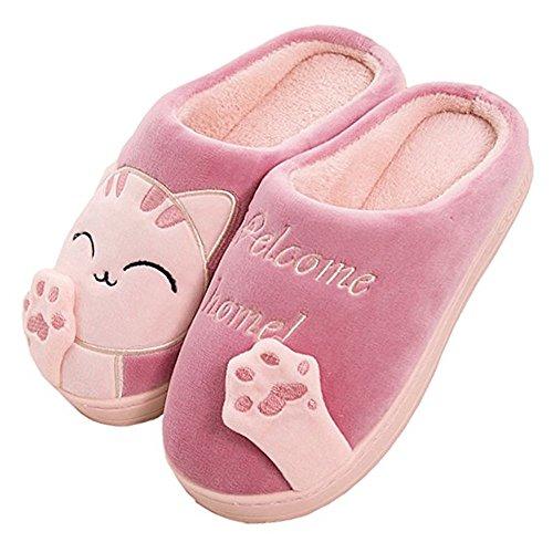 [Foochow] スリッパ静かなインテリアかわいい猫の家族の子供カップルルームの靴