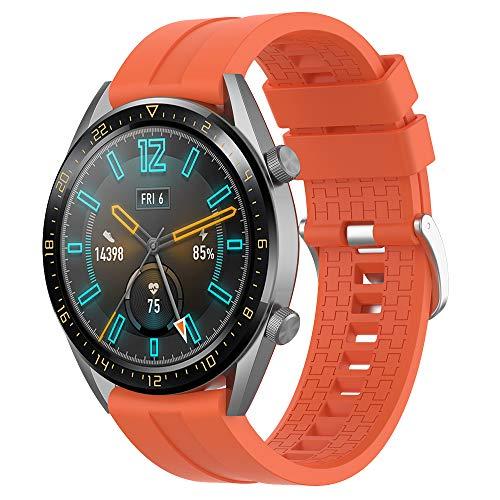 Supore Bracelet Compatible avec Huawei Watch GT2 46mm/Watch GT 46mm/Watch GT Active/Watch 2 Pro/Honor Watch Magic/Galaxy Watch 46mm/Gear S3/Gear 2, Bracelet en Silicone de 22mm