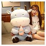 XIAN Jouet en peluche géant en forme de vache tenant une bouteille de lait - Jouet en peluche pour garçons et filles - 347