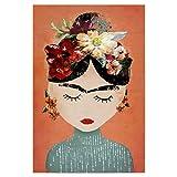 artboxONE Poster 30x20 cm Menschen Frida (orange Version)