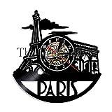 ROMK 1 Pieza Reloj de Pared del Horizonte de París Hecho a