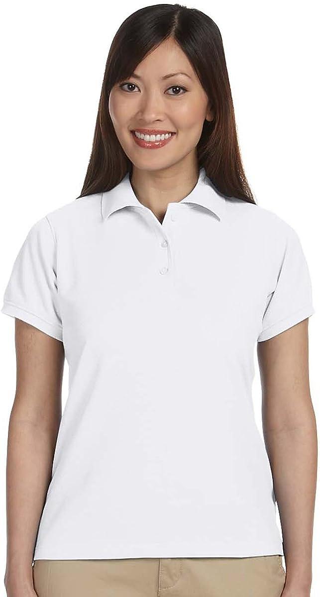 Harriton Ladies†5 oz. Blend-Tek Polo, S, White