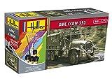 Heller 56996 GMC CCKW 353 Modellbausatz, grau -