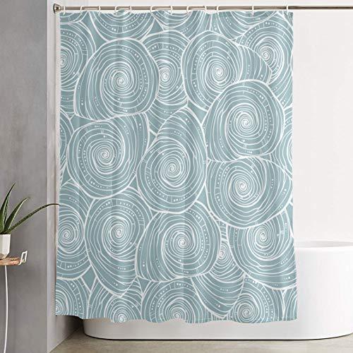 BCVHGD Duschvorhang,Muscheln Marine,Bad Vorhang waschbar Bad Vorhang Polyester Stoff mit 12 Kunststoffhaken 180x210cm