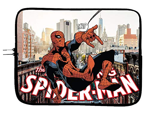 Brand3 Spider Man Laptop Sleeve Bag Superhero Case 1e 13.3' MacBook Pro/MacBook Air Surface Pro Laptop/Tablet Water Repellent Neoprene Cushioned Case