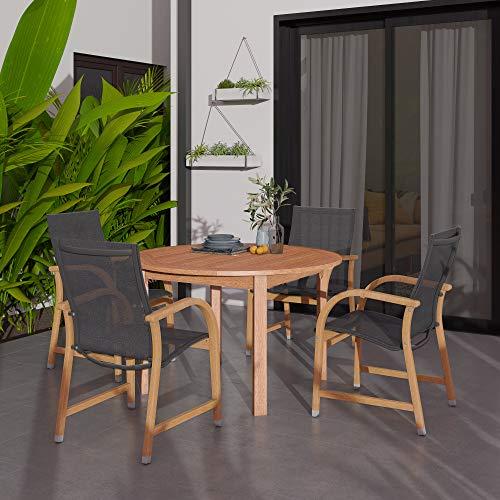 Amazonia Bahamas 5-Piece Eucalyptus Round Dining Set