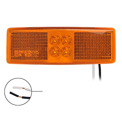 PRO PLUS Lampe Clignotant latéral marquage orange 110 x 40 mm 4LED Applique Contour