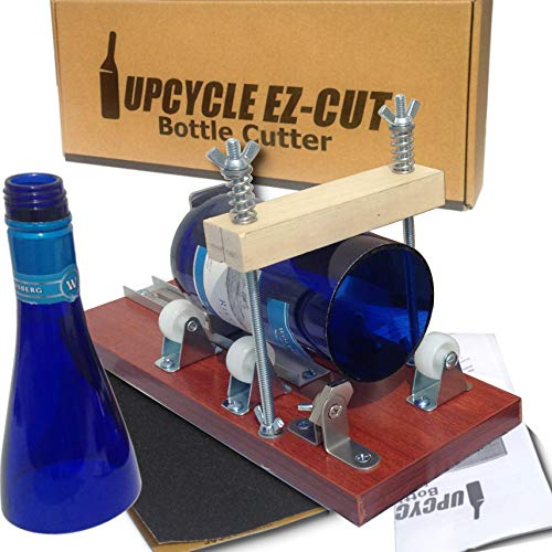 Glass Bottle Cutter SelfScoring System: New Precision Bottle Cutting Machine for Perfect Cuts, Spring-Force Technology