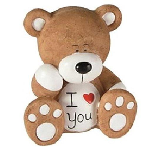 les colis noirs lcn Figurine Ours I Love You Modèle 1 Blanc - Message Sentiment Amour - 229