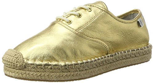 Marc O'Polo Damen 70313963802110 Espadrilles, Gold, 39 EU