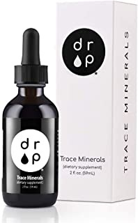 Organic Trace Minerals Electrolyte Drops with Fulvic Acid 2 oz Alkaline Liquid Supplement - for Gut Health, Energy, Stamin...