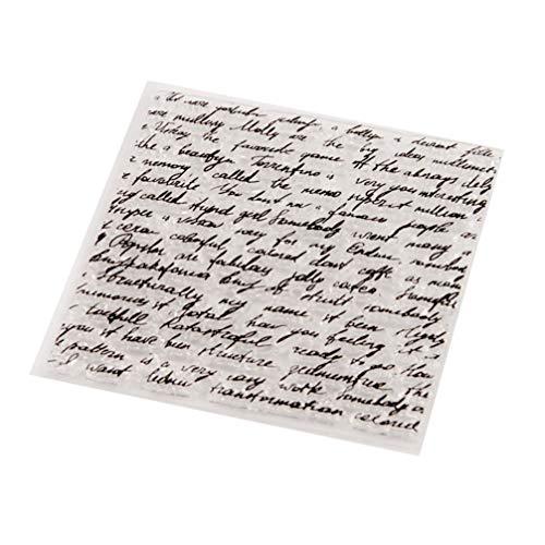 EXCEART 1 Pieza de Fondo de Letras de Palabra Sello Claro Alfabeto Sellos Transparentes Sellos de Scrapbooking Sello de Silicona Tarjetas de Sello para DIY Decoración Tarjetas para Hacer