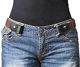 X XHtang Cinturón Elástico Sin Hebilla para Mujer para Hombre, Sin Hebilla Invisible Cinturón para Pantalones Vaqueros Pantalones Vestidos