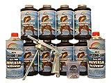 Speedokote T-Rex White Bed Liner, 2K Urethane, SMR-1000W-K8 Truck Bedliner w/Free Spray Gun