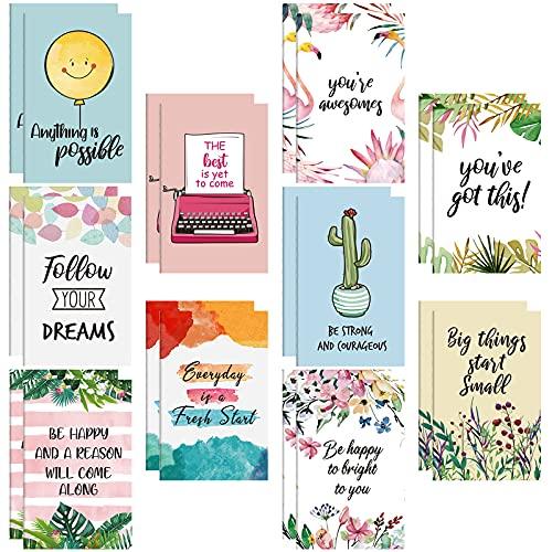 20 Blocs de Notas Inspiradores Mini Cuaderno Motivacional Bloc de Notas de Bolsillo Pequeño para Escuela Oficina Viaje Hogar Presente Recompensas, 10 Estilos